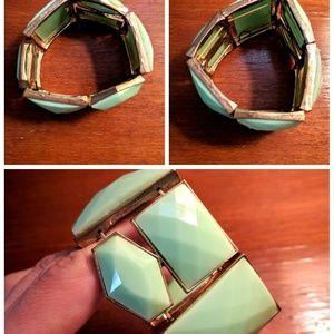 Jewelry - Mint Green Stretch Bangle